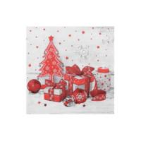 Vánoční ubrousky 3vrstvé 33x33 - motiv 84279 [20 ks]