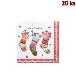 Vánoční ubrousky 3vrstvé 33x33 - motiv 84170 [20 ks]