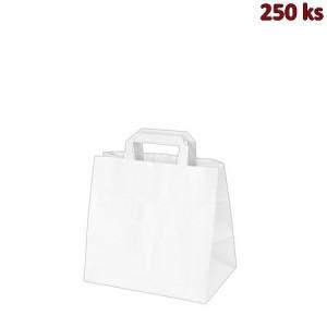 Papírová taška bílá 26 x 17 x 25 cm [50 ks]
