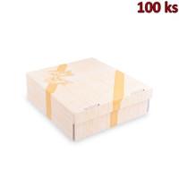 Krabice na dort -celoplošný potisk- 28x28x10 cm [100 ks]