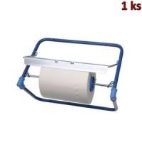 Nástěnný držák na papírové utěrky kovový, modrý [1 ks]