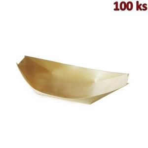 Fingerfood miska dřevěná, lodička 16,5 x 8,5 cm [100 ks]