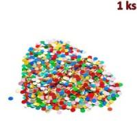 Konfety papírové, barevný mix 100 g