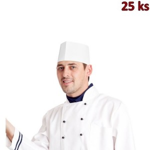 Kuchařské čepice z papíru, lodičky bílé [25 ks]