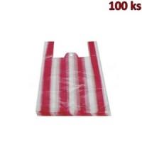 Mikrotenové tašky 4 kg pruhované 25 + 12 x 45 cm