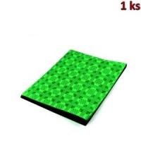 Papírový ubrus skládaný 1,80 x 1,20 m tmavě zelený