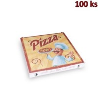 Krabice na pizzu z vlnité lepenky 30 x 30 x 3 cm