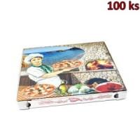 Krabice na pizzu z vlnité lepenky 40 x 40 x 4 cm