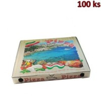 Krabice na pizzu z vlnité lepenky 46 x 46 x 5 cm