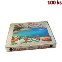 Krabice na pizzu z vlnité lepenky 50 x 50 x 5 cm