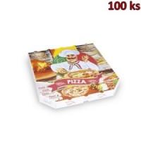 Krabice na pizzu extra pevná 30 x 30 x 3 cm