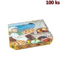 Krabice na pizzu extra pevná 33 x 33 x 3 cm [100 ks]