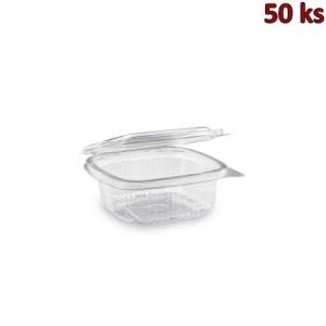 Plastová krabička s víčkem hranatá 250 ml PET [50 ks]