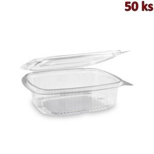 Plastová krabička s víčkem hranatá 750 ml PET [50 ks]