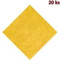Napron PREMIUM 80 x 80 cm žlutý [20 ks]