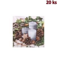 Ubrousky 3-vrstvé,33 x 33 cm VÁNOCE [20 ks]