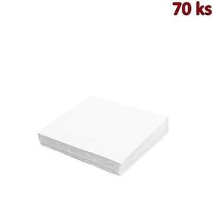 Ubrousky 1-vrstvé, 33 x 33 cm bílé [70 ks]