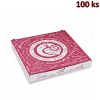 Krabice na pizzu z vlnité lepenky 24 x 24 x 3 cm