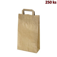 Papírové tašky 22 x 10 x 39 cm hnědé [250 ks]